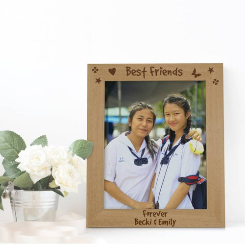 What better way to tell your Best Friend you love them than send them this 5x7 wooden frame personalised with any message