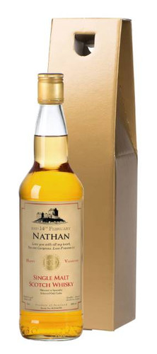 For someone who prefers the finer things in life, like a superior single malt whisky, this is a Valentine gift that will certainly hit the spot. Produced in the Scottish Highlands by an independent distillery, this malt is the preference of many whisky connoisseurs throughout the world. Whether the recipient is an expert or not they will appreciate the nectar and the bottle that holds it. The bottle's special Valentine label is personalised with their name and a personal message of love from you, making this gift really personal. The bottle is presented in your choice of gold gift carton, or a silk-lined black giftbox.