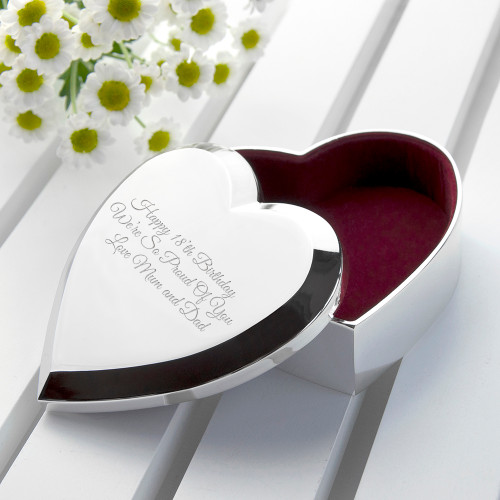 Enjoy the little things in life!   Felt lined, highly polished, and utterly beautiful. This silver plated trinket box is a wonderful gift for her. The perfect addition to her dressing table, this little box may be small but its heartfelt affirmations certainly aren't!