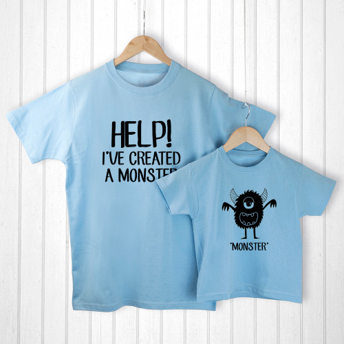 There's nothing cuter than seeing a little one looking up to their dad, imitating their mannerisms and wanting to copy their every move. This set of daddy and me t-shirts are a wonderful way for a little one to be just like daddy.  Made from 100% soft cotton, this matching set is soft on both daddy's skin as well as your little one.  The set of two t-shirts come beauituflly presented in a personalised canvas gift bag, so no need to wrap!  Choose from M, L, XL for dad and 3-4 years, 5-6 years, 6-7 years for a child.  Personalise the set's canvas gift bag with a message of your choice.