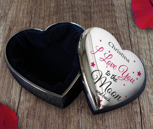 Their name is included within the design on the front of this loving trinket box, showing them you love them to the moon and back. Whether its a gift for your partner, or your loving mum, they'll be sure to feel loved. Your gift will be treasured every day from now on - after all everyday is a loving day!