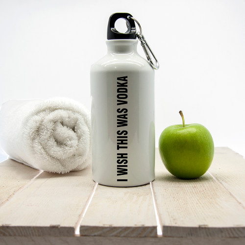 A fun and cheery pick me up when you're struggling to go that last mile on the treadmill!  Holds 500ml of liquid Made from aluminium with sports cap Dishwasher safe  Personalise with a name on the back of the bottle.