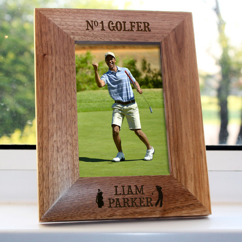 """You can personalise this frame with his name, so that everyone knows that he is the only No1 Golfer around. Oak finished, you are able to personalise this gift with his name.  Dimensions: 4""""x6"""""""
