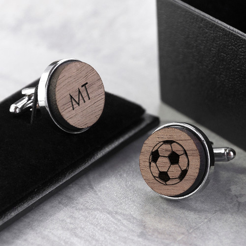 From cycling & golfing to football & tennis, we have thought of every hobby he could possibly have! He'll be able to wear his favourite hobby with pride, if you can't pick just one hobby pick one on each cufflink - they don't have to be the same!  Made from sustainable fsc walnut wood and lovingly engraved with an icon(s) of your choice.  Mounted onto highly polished chrome backs.