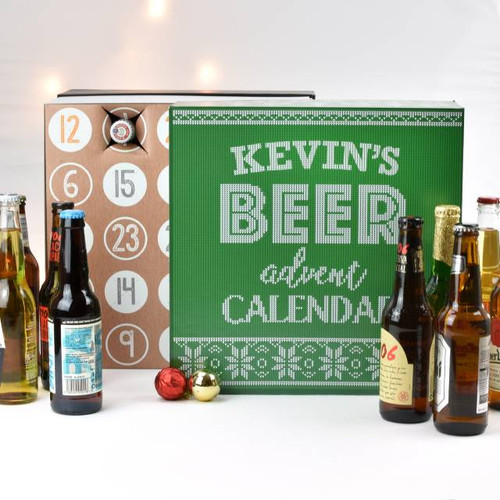 Who said that advent calendars were for children only? As the month of December begins, adults can wake up every day with an excited anticipation of discovering an alcoholic treat behind the 25 doors of the Personalised Beer Advent Calendar Gift Box. The calendar includes a variety of branded ales and lagers, music to the ears of any beer lovers who will love the excuse to have a festive tipple every day until Christmas. This unique gift box has a striking seasonal design, and is emblazoned with the recipient's name, a personalised touch that will leave nobody in question of whose special calendar this belongs to!