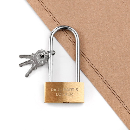 Measuring 8 cm in length, this shackle padlock comes with a small set of keys. It's a perfect gift for him, so he can lock his stuff away in his man cave and be sure that no one will tidy it up after him.