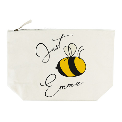 """Sometimes a little message of encouragement can go a long way in making someone's day, to make them smile, to have them believe in themselves. The appropriately punned """"Bee You"""", complete with a bee design for effect, enhances this message. This wash bag is a handy accessory to have to keep all your make up necessities in one place, handy for the suitcase or the every day bag to work"""
