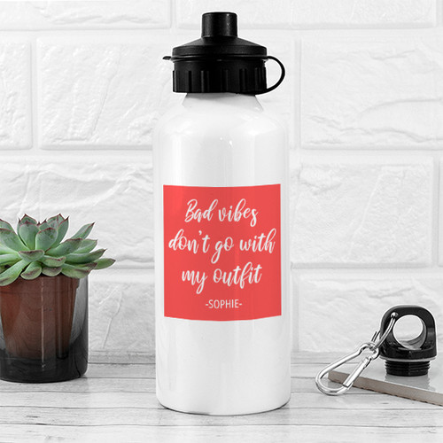 Let them see that you're working for what you've got with this water bottle. It can hold 600ml of liquid and is light enough to carry anywhere, particularly the gym! It also comes with two different caps, so that when one is being washed, you're still good to go with the second one. A vibe is the feeling you get from another person - what they're like, what you feel they may be capable of. There are some types of people just don't want around - no bad vibes go with any outfit (and it's particulcarly not enjoyed in the gym, when all the motivation is needed!).