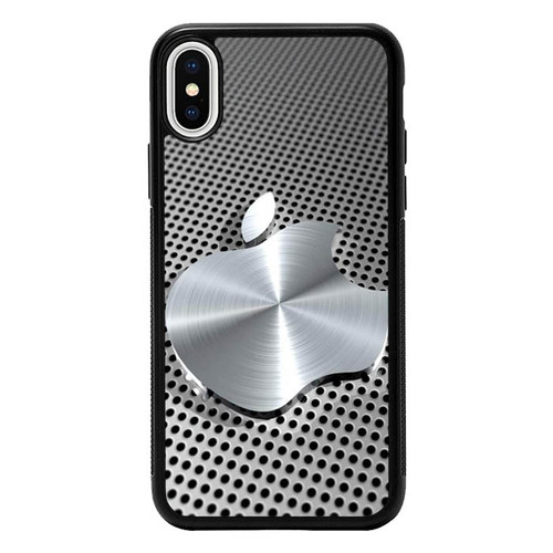 3D Apple Silver P0946 iPhone X, iPhone XS Case