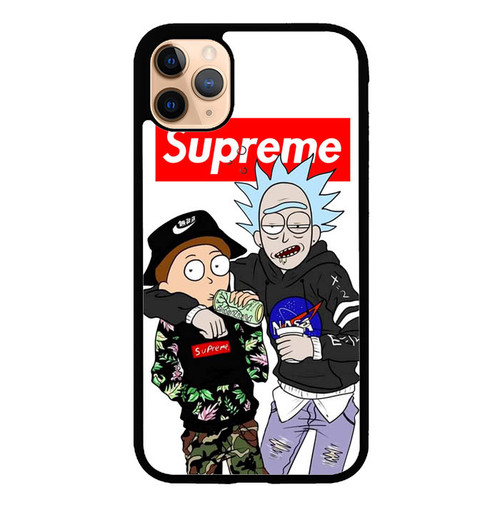 Supreme Rick And Morty L2696 iPhone 11 Pro Case