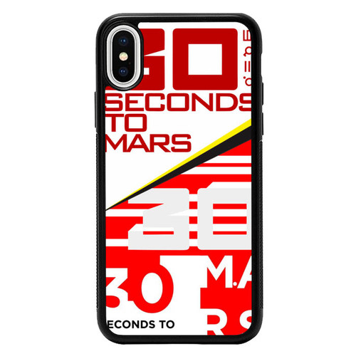 30 Second to Mars Logo Y2535 iPhone X, XS Case