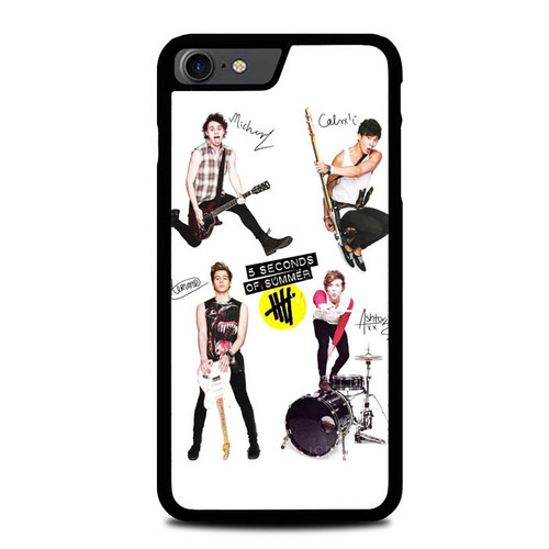 5 Seconds of Summer 5SOS Signatures L1085 iPhone 7 , iPhone 8 Case