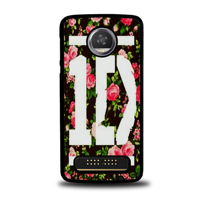 1D One Direction Floral O3331 Motorola Moto Z Play Case