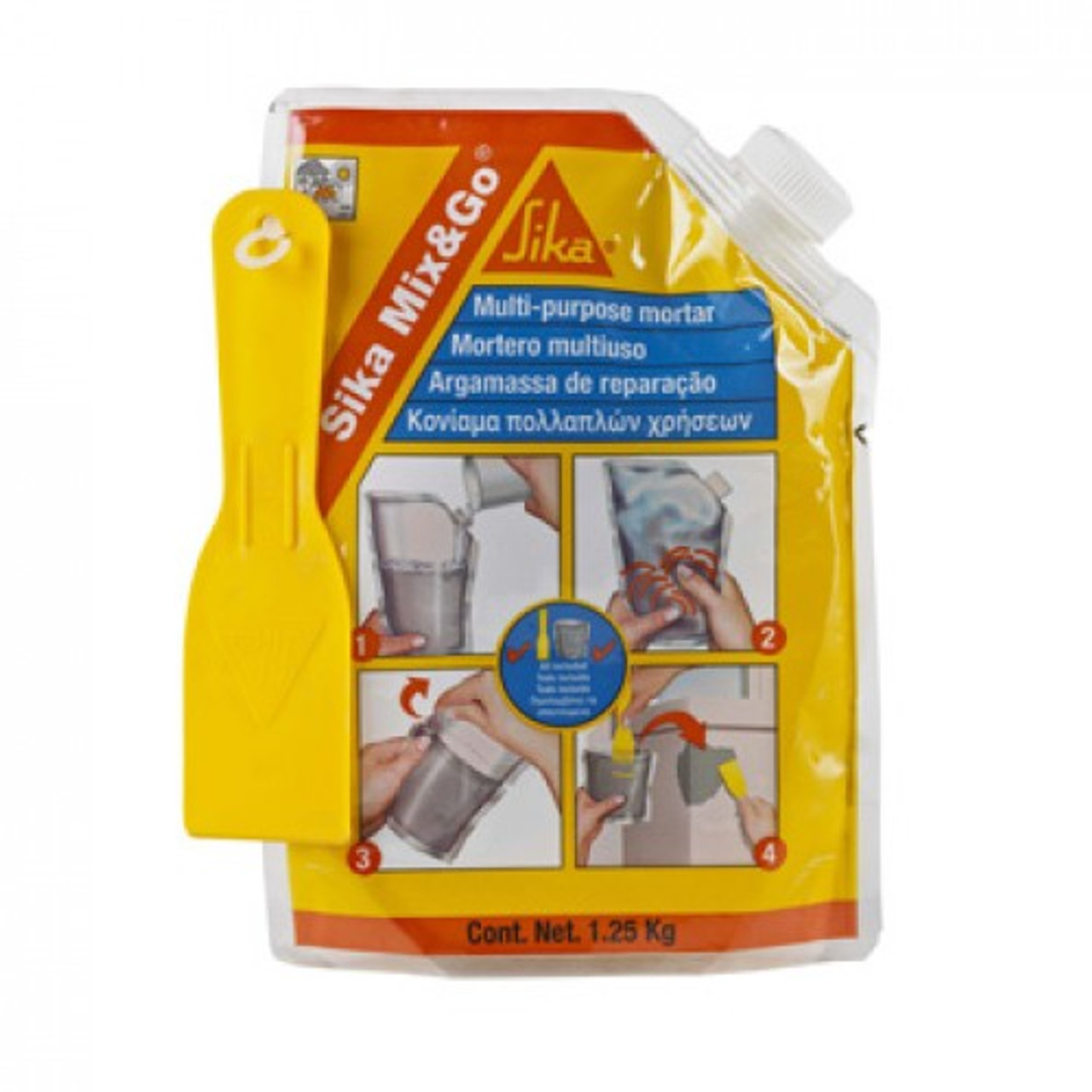 Sika MIX & GO Concrete / Mortar Repair 1 25kg | TCO UK