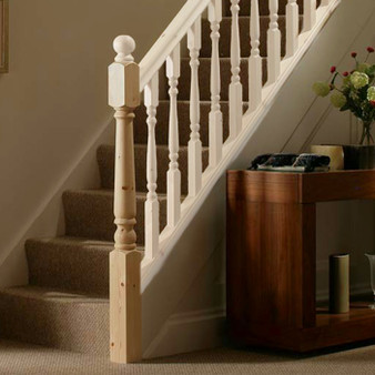 Pine Newel Post from Cheshire Mouldings