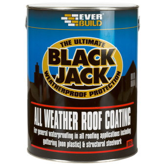 Everbuild 905 All Weather Roof Coating Black 5L