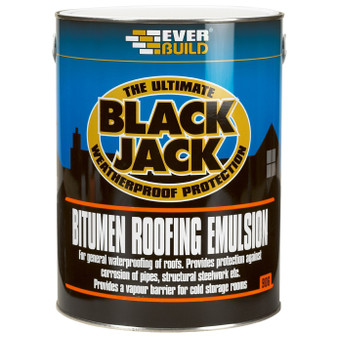 Everbuild 906 Bitumen Roof Emulsion 5L