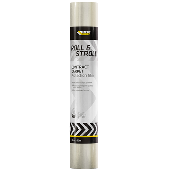 Everbuild Roll & Stroll Contract Carpet Clear 600mm x 100 Metres (ROLLCON100)