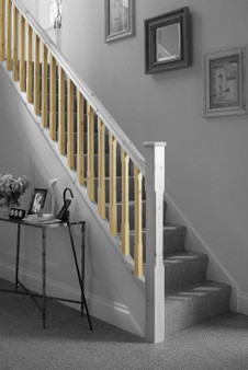Cheshire Mouldings Stop Chamfered Pine Stair Spindles  ST90