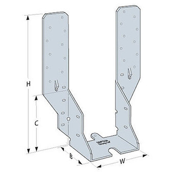Simpson Strong-Tie Adjustable height Timber to Timber Jiffy Speedy Joist Hanger