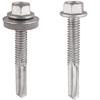 TIMco Self-Drilling Screws For Heavy Section Steel (12mm) with and without washer