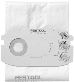 Festool Dust Filter Bag For SC CT Mini dust extractors  Festool Code: 498410