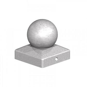 "Birkdale Galvanised Metal Steel BALL FINIAL Fence Post Cap for 3"" or 4"" Posts"