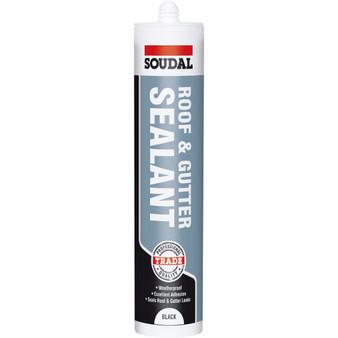 Soudal ROOF & GUTTER Sealant Black - 300ml