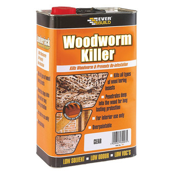 Everbuild WOODWORM KILLER - 5L - LJWORM05