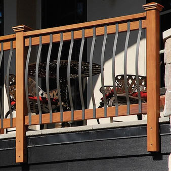 black decking balusters