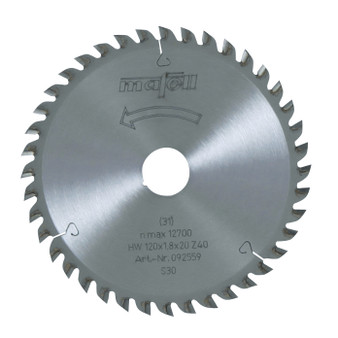 Mafell TCT Fine Cut Saw Blade 120 x 20 x 1.8mm - 40 Teeth - 092559