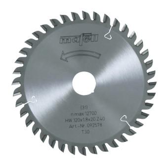 Mafell TCT Saw Blade For Laminates 120 x 20 x 1.8mm (40 Teeth) - 092578