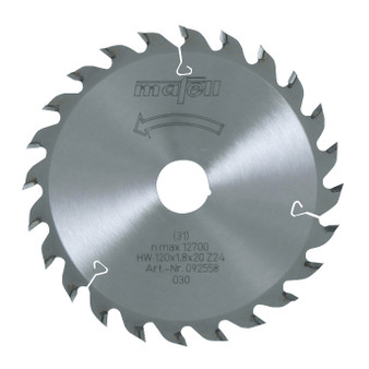 Mafell TCT Saw Blade For Rip Cuts 120 x 20 x 1.8mm (24 Teeth) - 092558