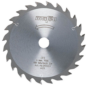 Mafell TCT Universal Saw Blade 160 x 20 x 1.8mm (24 Teeth) - 092533