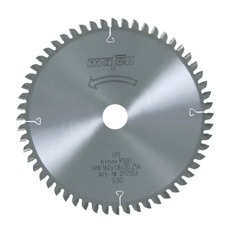 Mafell TCT Fine Cut Saw Blade 160 x 20 x 1.8mm (56 Teeth) - 092553