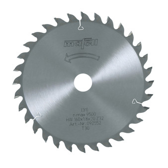 Mafell TCT Fine Cut Saw Blade 160 x 20 x 1.8mm (32 Teeth) - 092552