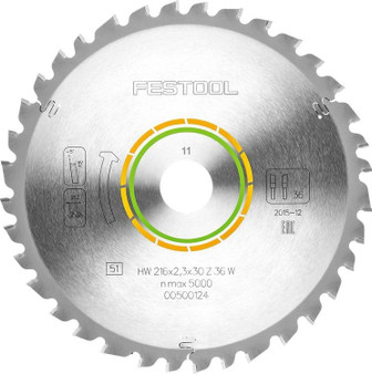 Festool Universal Saw Blade 216x2.3x30 W36 - 500124 - For Kapex KS 60