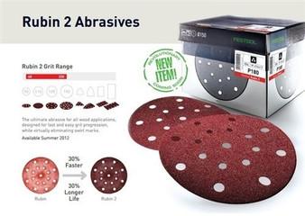 Festool RUBIN 2 STF D90/6 Sandpaper Discs: 90mm - Grit: P80 - P220
