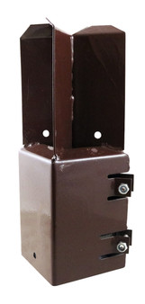 "Taurus Concrete In Shoe - Bolt Secure Powder Coated Suit Post Size 100mm (4"")"