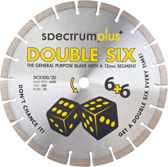 OX Spectrum Plus Double Six Diamond Blade - GP - 125/22.23mm