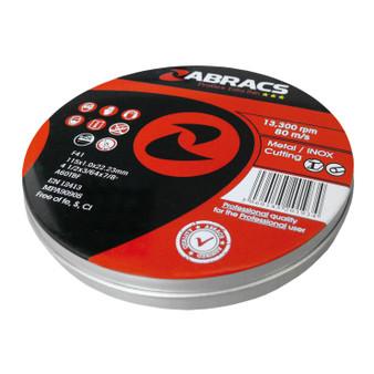 Abracs Proflex Extra Thin Cutting Disc  115mm x 1.0mm INOX (Tins of 10)