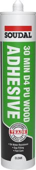 Soudal 30 Minute Bonding PU Gel D4 Wood Adhesive