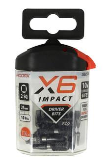 Addax X6i Impact Square Drive Bit (SQ2 x 25mm)