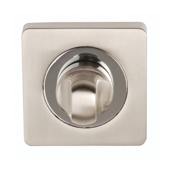 Dale Argo Square Rose Bath Turn/Release - Satin Nickel/Polished Chrome (Back - Switch)