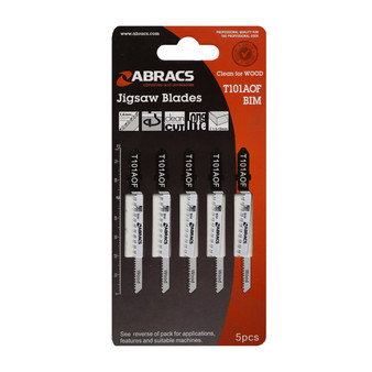 Abracs Jigsaw Blade Wood T101AOF Pack of 5 (ABT101AOF)
