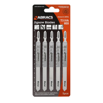 Abracs Jigsaw Blade Metal  T318A Pack of 5 (ABT318A)