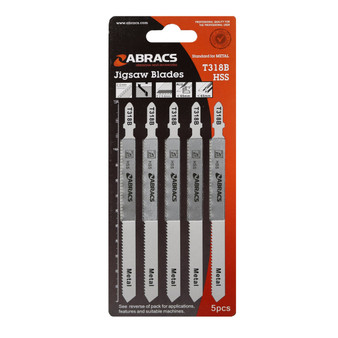 Abracs Jigsaw Blade Metal  T318B Pack of 5 (ABT318B)