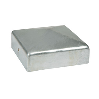 Fencemate Dura Post Cap with bracket 75x75mm - Galvanised (7390751)