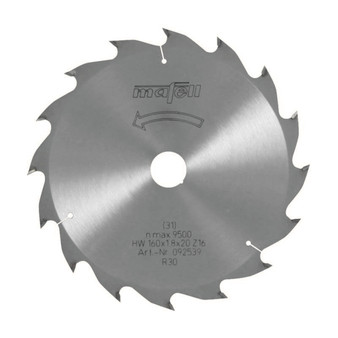 Mafell TCT Circular Saw Blade 160 x 20 x 1.2/1.8mm - 16 teeth (092 539)