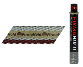 FirmaHold Collated Clipped Head Nails & Fuel Cells Ring Shank - Firmagalv + 3.1 x 63mm (CPLR63RG)